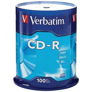 Verbatim 94554 700mb 80-minute 52x Cd-rs (100-ct Spindle) -