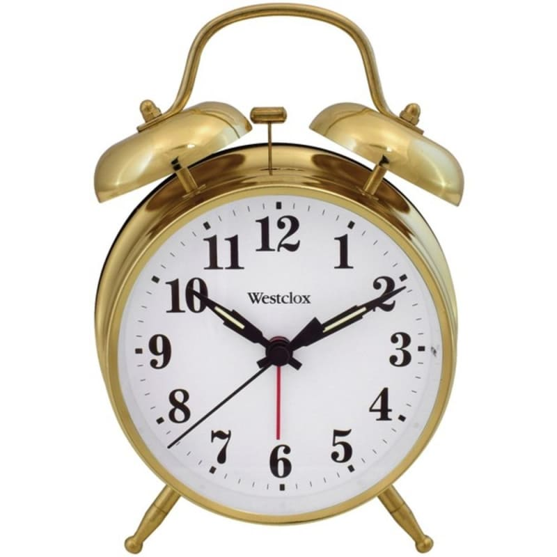 Westclox 70010g Metal Twin Bell Alarm Clock - Home Goods &
