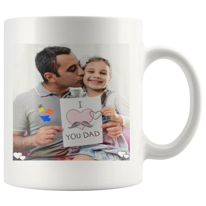 White MUG 11oz - I LOVE YOU DAD - MUG - I Love You DAD -