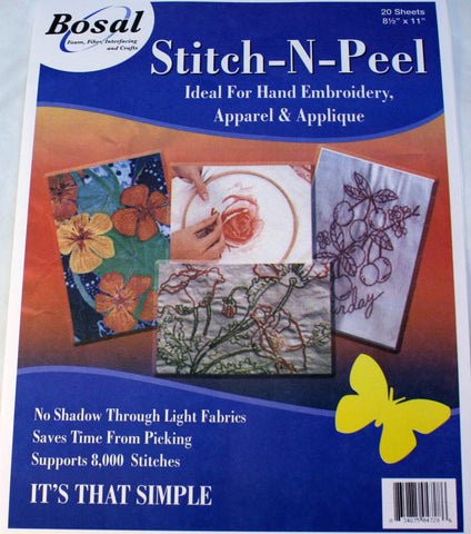 Bosal Stitch & Peel 10 Pack