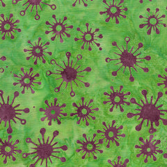 Island Batik Mandala Magic - Circle Star Green Apple 612001635