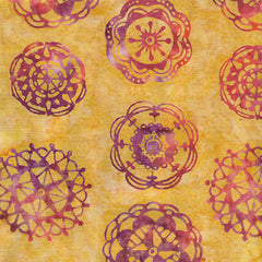 Island Batik Mandala Magic - Medallions Butter 612003106