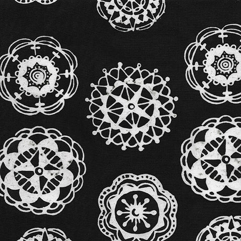Island Batik Mandala Magic - Medallions Black 612003796