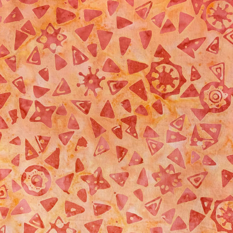 Island Batik Mandala Magic - Triangles Cantaloupe 612005201