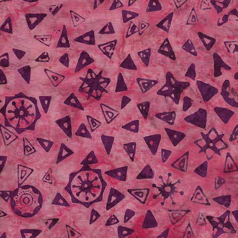 Island Batik Mandala Magic - Triangles Mauve 612005416
