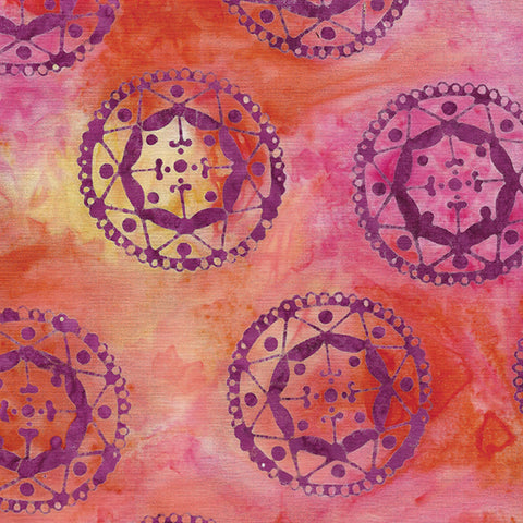 Island Batik Mandala Magic - Circles Poppy 612006250