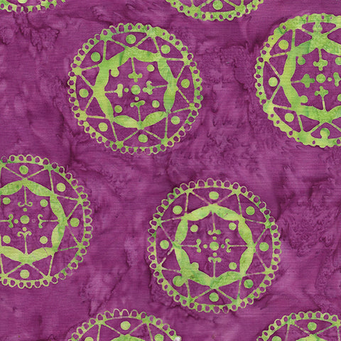 Island Batik Mandala Magic - Circles Grape 612006450