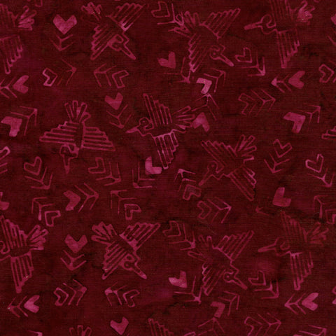 Island Batik Ancient Etchings - Condor-Burgundy 621901395