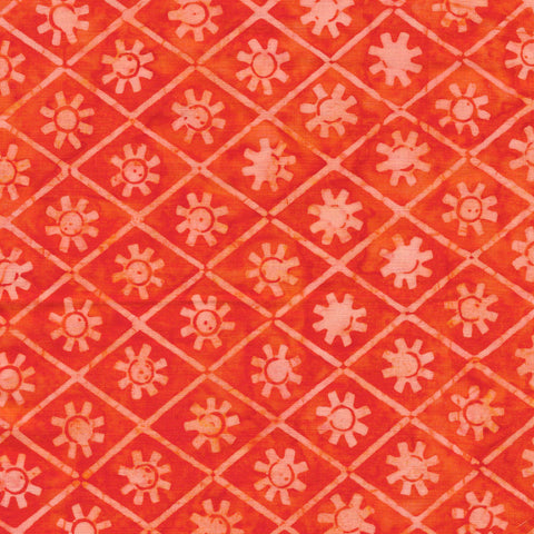 Island Batik Ancient Etchings - Sun-Tangerine 621904240