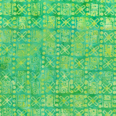 Island Batik Ancient Etchings - Weaving -Lemon-Lime 621906612