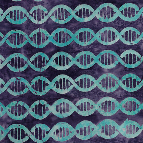 Island Batik Blinded by Science - DNA - Violet -  622002425