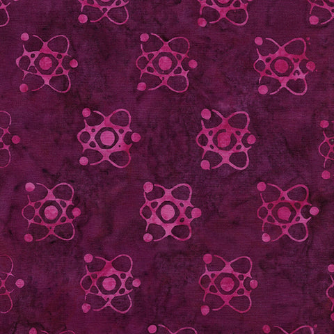 Island Batik Blinded by Science - Atom - Plum - 622004350