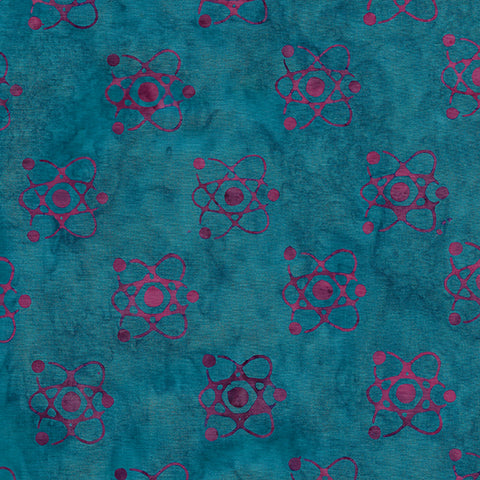Island Batik Blinded by Science - Atom - Aquamarine -  622004551