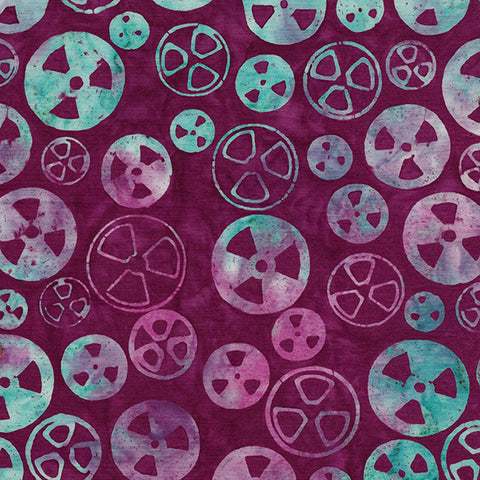 Island Batik Blinded by Science - Radioactive - Magenta -  622005340