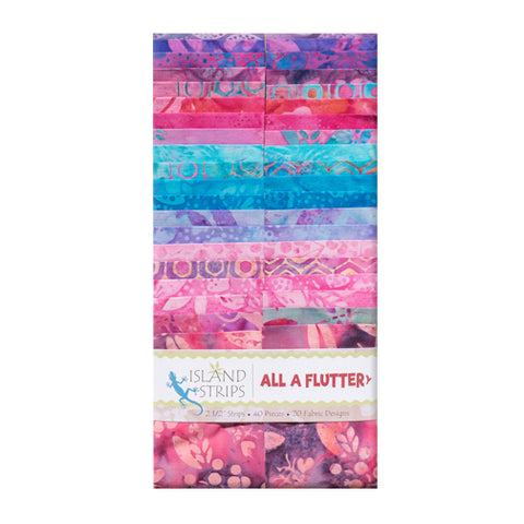 Island Batik All A Flutter Strip Pack