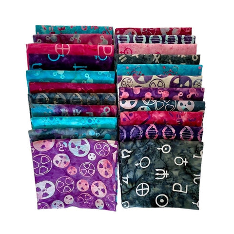 Island Batik Blinded by Science Fat Quarter Pack