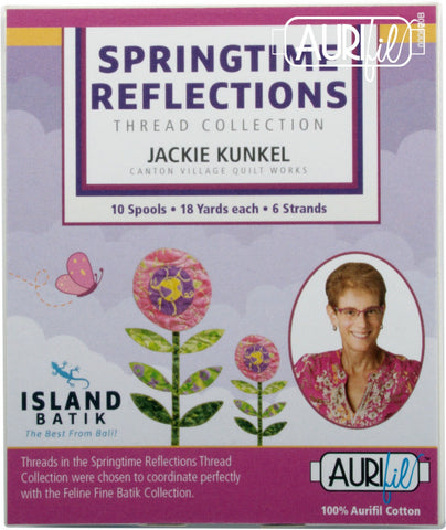 Springtime Reflections Floss Collection by Jackie Kunkel 10 Small Spools