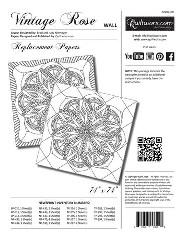 Vintage Rose Technique of the Month Wall Size Replacement Papers