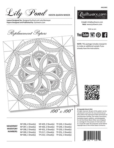 Lily Pond Replacement Papers