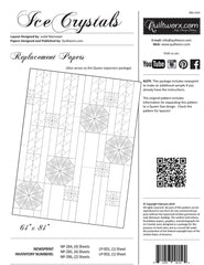 Ice Crystals Pattern Replacement Papers