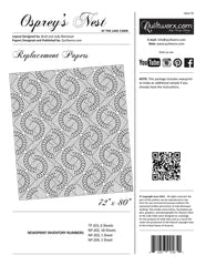 Osprey's Nest Log Cabin Pattern Replacement Papers