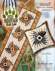 Rocky Mountain Bear Claw Table runner and Pillow
