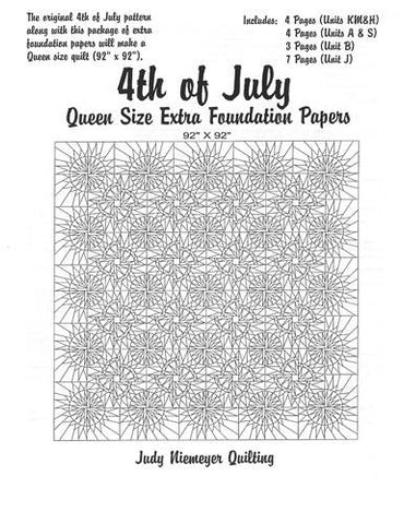 4th of July Queen Size Extra Foundation Papers