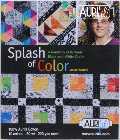 Splash of Color by Jackie Kunkel Aurifl Thread Collection 10 Small Spools 50wt Cotton