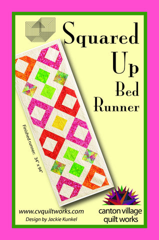 Squared Up Bed Runner