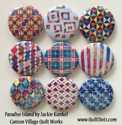 Paradise Island Set of 9 Magnets