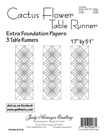 Canton village quilt works patterns cactus flower table runner extra foundation papers ccuart Choice Image