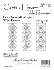 Cactus Flower Table Runner Extra Foundation Papers