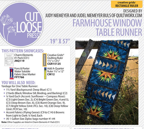 Farmhouse Window Table Runner