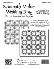 Sawtooth Melon Wedding Ring Extra Foundation Papers Art Deco & Cotton Candy