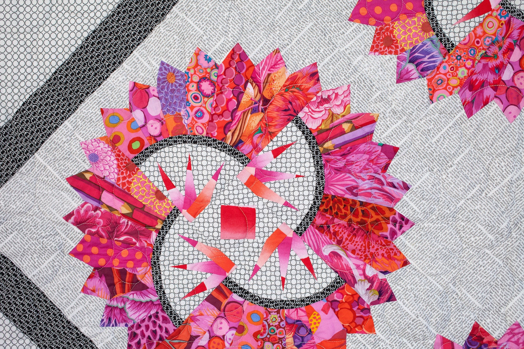 Paper Piecing the Quiltworx Dresden Plate Online Class