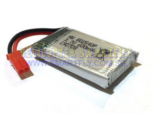 Load image into Gallery viewer, Lipo 3.7V 600mah Battery red JST connectors 509G B