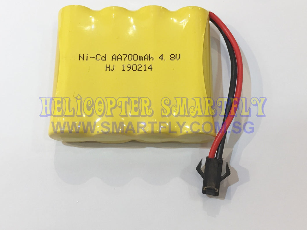 Ni-Cd 4.8V 700mah battery AA black connector Huina Dump Truck 1540 R22 N1