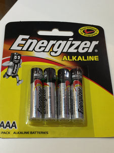 4 x AAA Energizer Batteries Pack