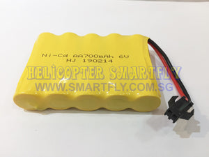 Ni-Cd 6.0V 700mah battery black connector R23 N1