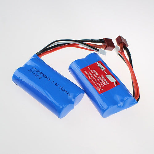 7.4V 1500mah Li-ion battery Deans connectorfor WL toys 12423 50km buggy R49