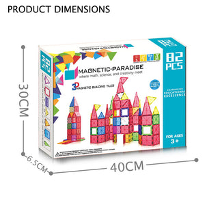 82 pcs Magnetic Blocks
