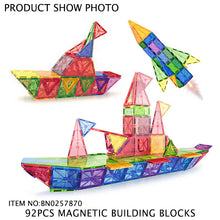 Load image into Gallery viewer, 92 pcs Magnetic Blocks for STEM learning