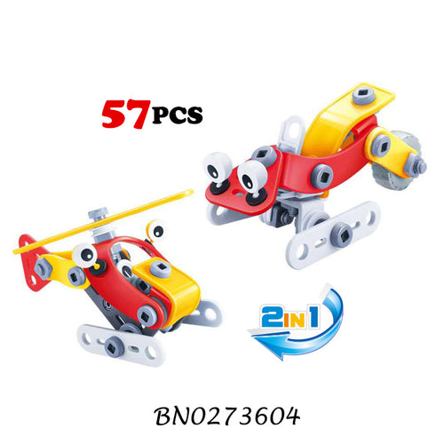 DIY 57 pcs Blocks STEM toys for learning