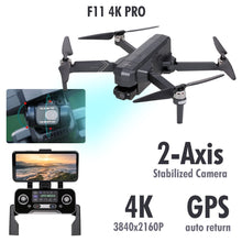 Load image into Gallery viewer, SJRC F11 Pro WiFi FPV 4K Camera GPS Drone