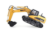 Load image into Gallery viewer, Huina RC 2.4G Excavator 1550 15 channel Die cast 1/14 scale