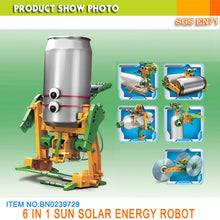 Load image into Gallery viewer, Solar Can Robot 6 in 1