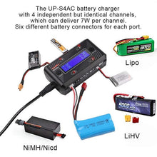 Load image into Gallery viewer, Ultra Power UP-S4AC Charger for Lipo, Ni-cd, Li-ion batteries