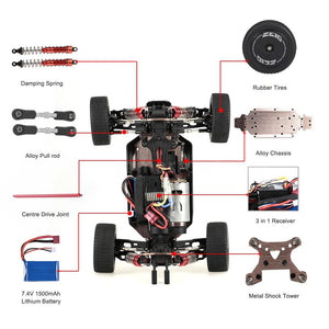 WL Toys 1/14 scale 144001 60km/hr RC buggy