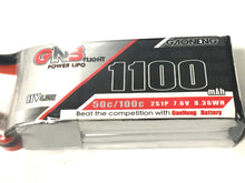 Load image into Gallery viewer, Gaoneng Lipo 7.6V 1100mah Battery XT30 connector 50c/100c
