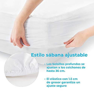 Smooth Fabric Mattress Protector-100% Waterproof-Hypoallergenic